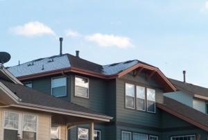 太陽光発電のついた家