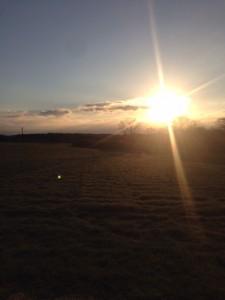 那須高原の初日の出